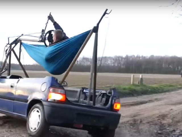 Der liegende Holländer: Dieses Auto wird aus der Hängematte gesteuert