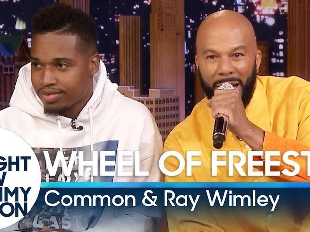 Common & Ray Wimley zeigen Skills beim 'Wheel of Freestyle'