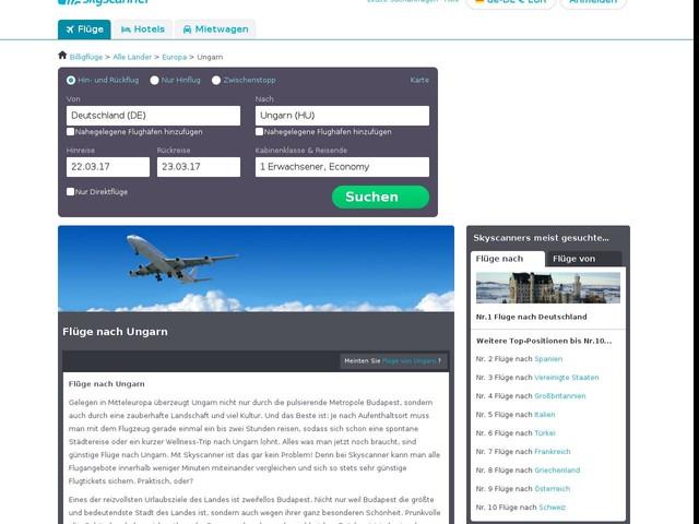 Flüge nach Ungarn mit Skyscanner.de