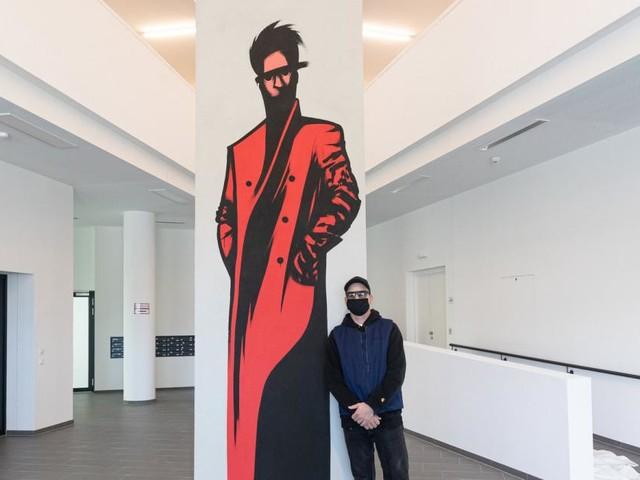 Kunst am Bau: Werke von Künstler Golif erstmals in Wohnanlage