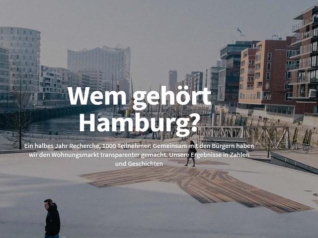 """""""Wem gehört Hamburg?"""" ausgezeichnet - Grimme Online Awards: """"Correctiv"""" gewinnt begehrten Medien-Preis"""