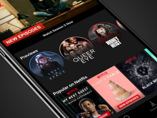 Netflix: Auch mobil kommt die Video-Preview