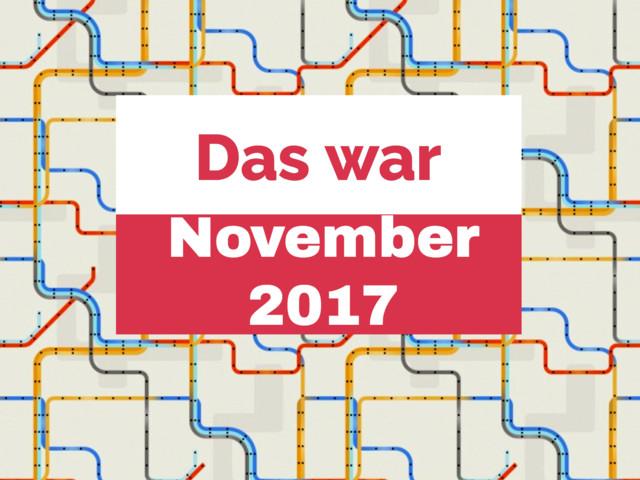 Der Sneakfilm-November 2017 im Rückblick