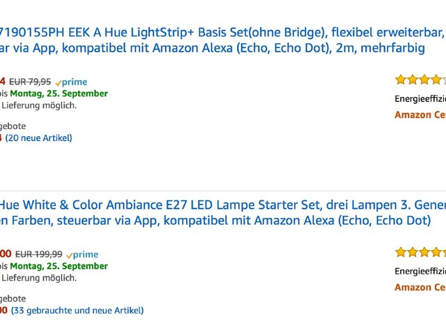 Amazon Blitzangebote: Philips Hue, Apple Watch Armbänder, Kopfhörer, Amazon Echo, ext. DVD Brenner, Osram Lightfy und mehr