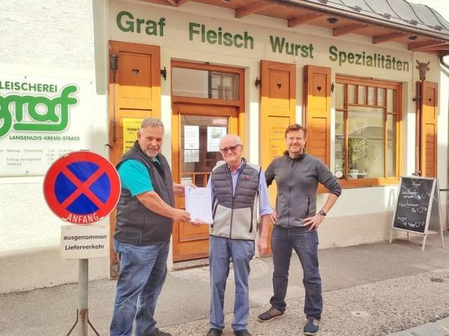 Gegen Parkverbot: Kremser Fleischer sammelt Unterschriften