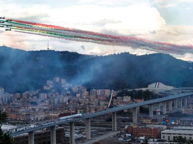 Symbol für Wiedergeburt: Zwei Jahre nach Einsturz: Neue Brücke in Genua eingeweiht