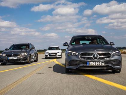 Mercedes C-Klasse T, Audi A4 Avant, BMW 3er Touring: Test, Kombis, Diesel, Motor, Preis Das Kombi-Triell: Neue C-Klasse T-Modell vs. 3er Touring und A4 Avant