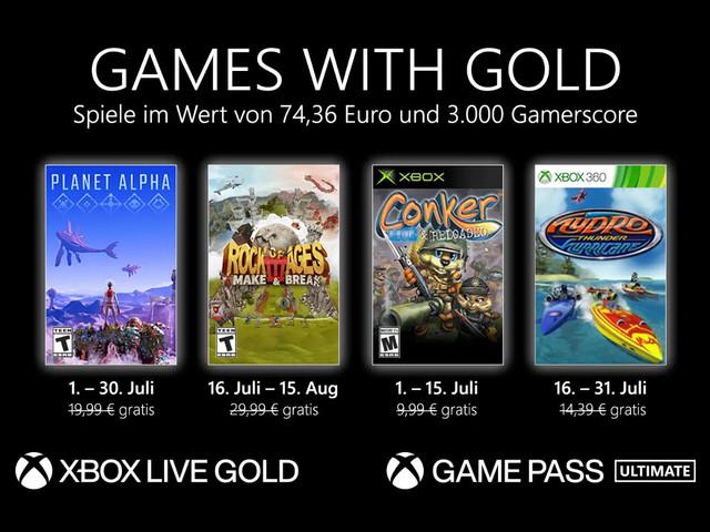 Xbox Games with Gold: Diese Spiele sind im Juli 2021 gratis