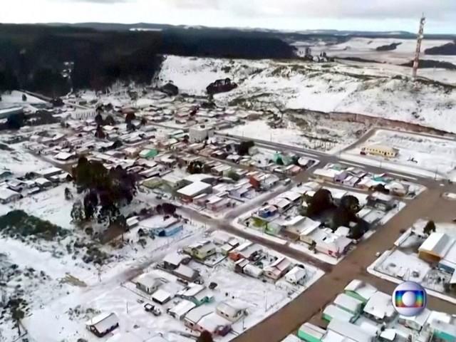 Schnee in Brasilien: Wegen Klimawandel zieht Polarluft nach Südamerika