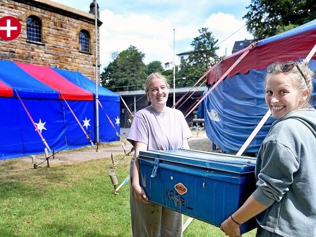 Freizeit: Hagen: Heute rücken 35 Quamboni-Zirkuskinder im Camp an
