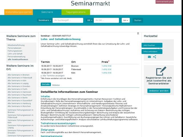 Seminar: Lohn- und Gehaltsabrechnung