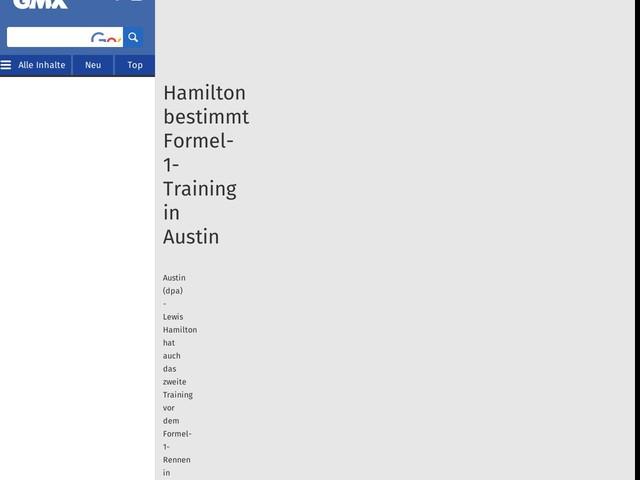 Hamilton bestimmt Formel-1-Training in Austin