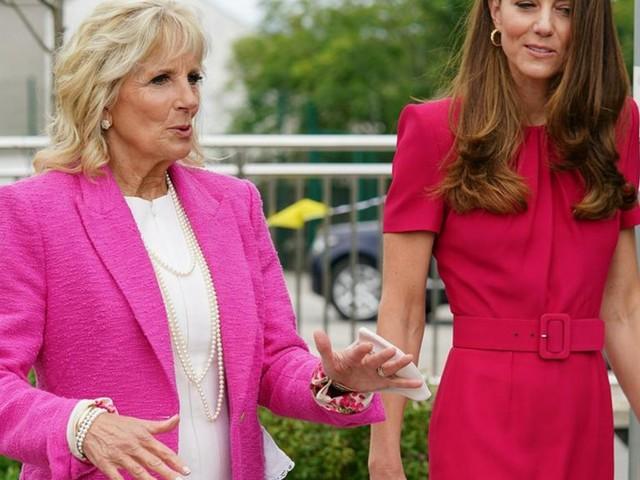 Jill Biden: First Lady besucht mit Herzogin Kate eine Schule