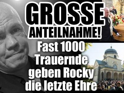 Fast 1000 Trauernde geben Rocky die letzte Ehre