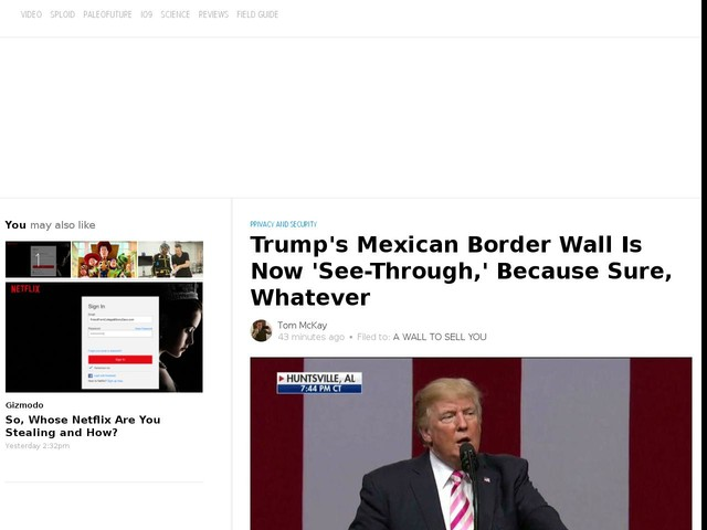 Trump's Mexican Border Wall Is Now 'See-Through,' Because Sure, Whatever