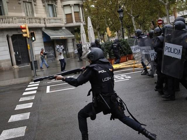 Der EU-Faschismus schlägt in Spanien blutig zu