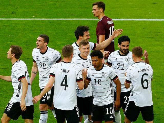 """7:1-Sieg gegen Lettland: Löw: """"Ein Großteil der Mannschaft, die man heute gesehen hat, wird auch gegen Frankreich starten"""""""