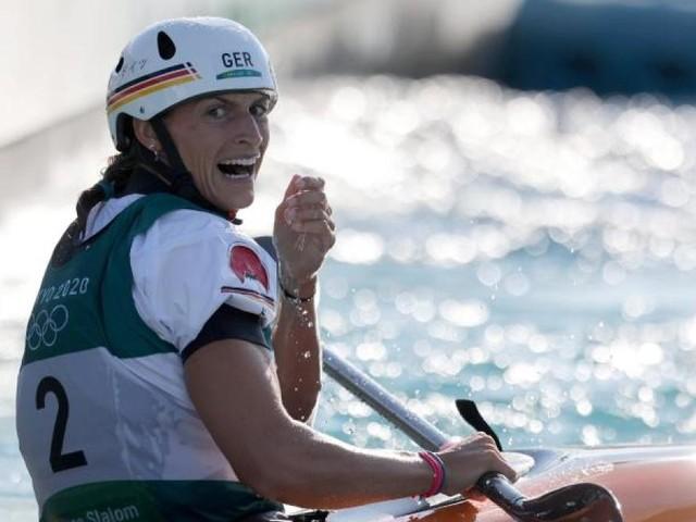 Slalomkanutin Ricarda Funk aus Augsburg holt erstes Gold für Deutschland