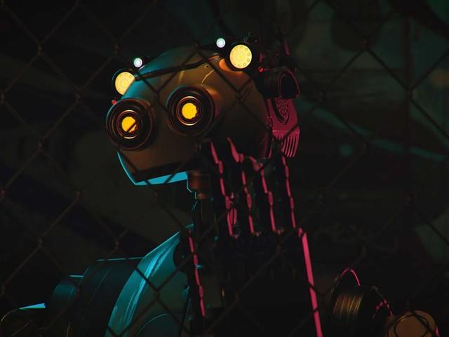 Ein Roboter erkundet die zerstörte Welt
