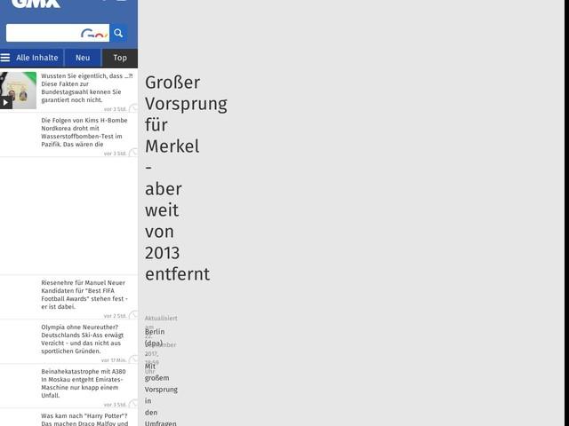 Großer Vorsprung für Merkel - aber weit von 2013 entfernt
