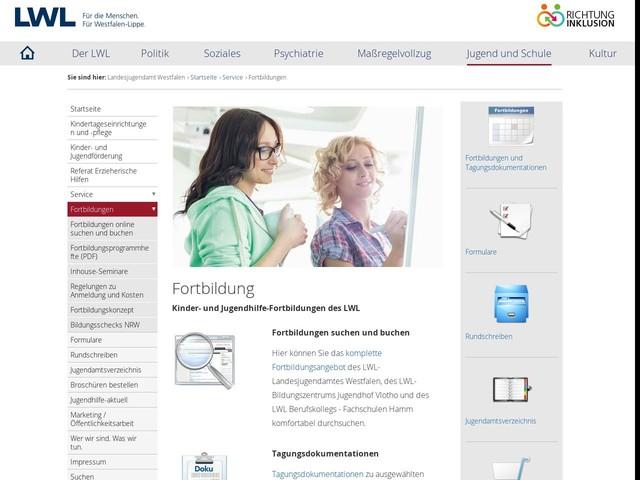 LWL   Fortbildungen - Landesjugendamt Westfalen