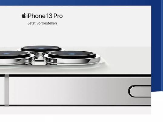 iPhone 13 (Pro) ab 0 Euro bei 1&1 vorbestellen