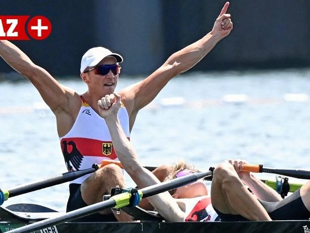 OLYMPISCHE SPIELE: So feiert Mülheimer seinen Silbermedaillengewinner im Rudern