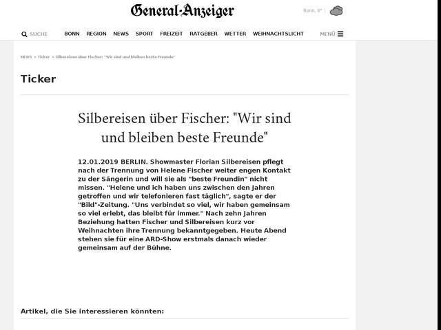 """Silbereisen über Fischer: """"Wir sind und bleiben beste Freunde"""""""