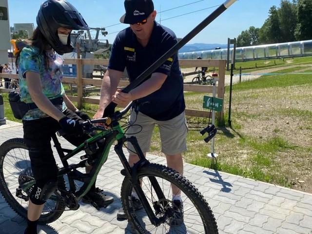 In Niederösterreich bringt Schlepplift Biker auf den Berg