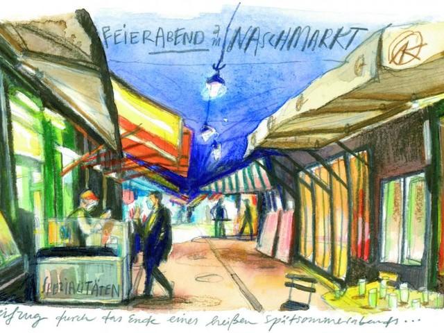 Am Naschmarkt: Christian Seilers Streifzug durch das Ende eines Spätsommerabends