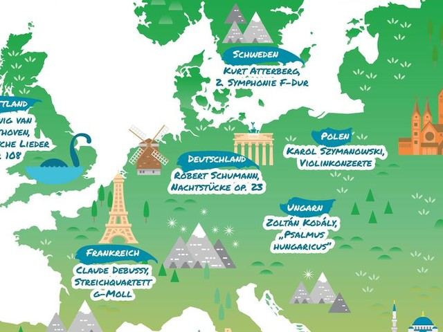 Klassik von Finnland bis Spanien: Von fremden Ländern und Menschen