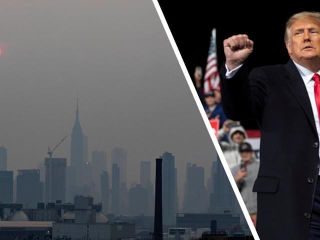Waldbrände in den USA - New York versinkt in Gift-Wolke und plötzlich glauben sogar Trump-Anhänger an Klimawandel