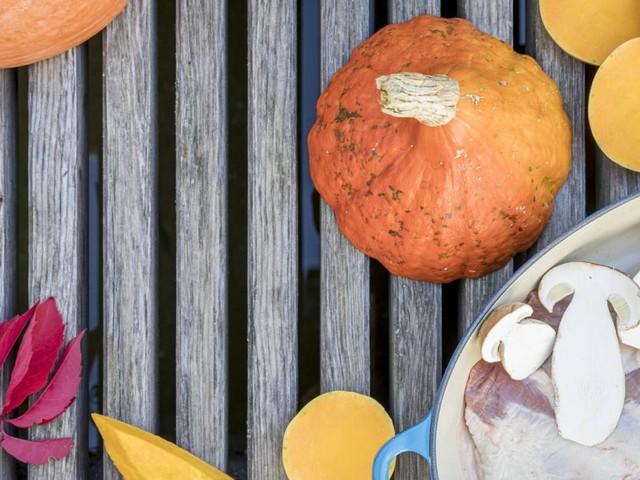 Das Spiel mit herbstlichen Zutaten: Kürbis, Wildschwein und Pilze