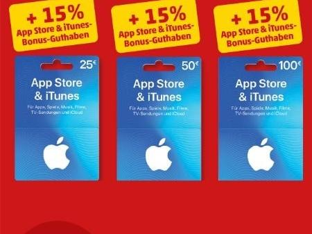 iTunes Karten bei Penny günstiger: 15 Prozent Bonus-Guthaben
