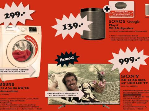Media Markt beamt die Preise nach 1979: Famose Angebote im Retro-Flyer