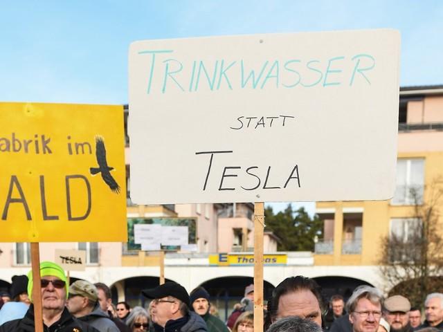Wegen rechter Einflussnahme: Tesla-Gegner demonstrieren nicht mehr