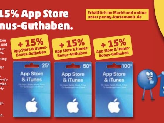 iTunes Karten günstiger: 15 Prozent Bonus bei Penny