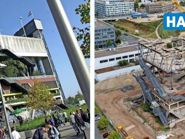 So wird der holländische Expo-Pavillon zerlegt