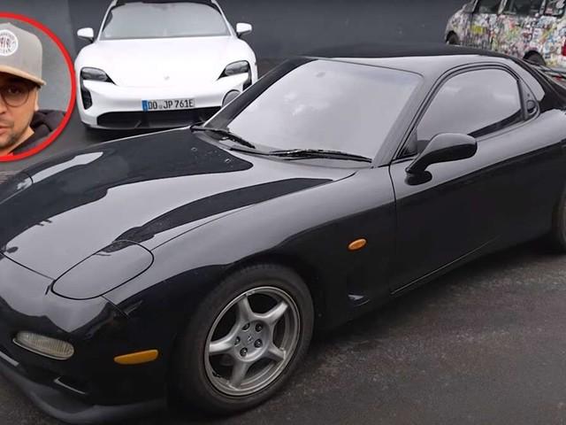 Auto fährt in Mazda RX-7 von JP Kraemer – Reaktion des Beifahrers macht Tuner fassungslos