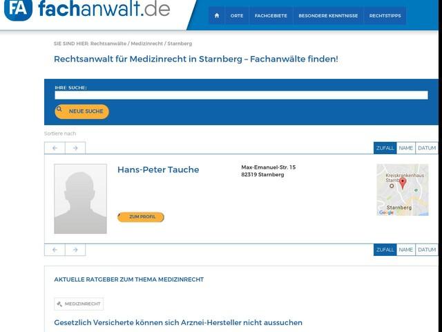 Rechtsanwalt Medizinrecht in Starnberg gesucht?