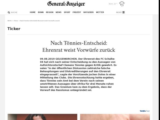 Nach Tönnies-Entscheid: Ehrenrat weist Vorwürfe zurück