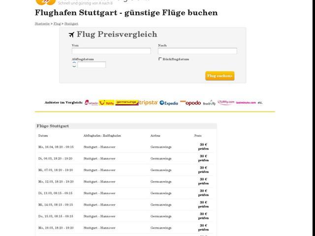 Flüge von und nach Stuttgart: Flughafen Stuttgart (STR)