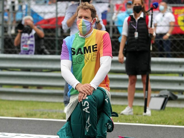 Wegen Regenbogen-T-Shirt in Ungarn: Sebastian Vettel rechnet mit Strafe