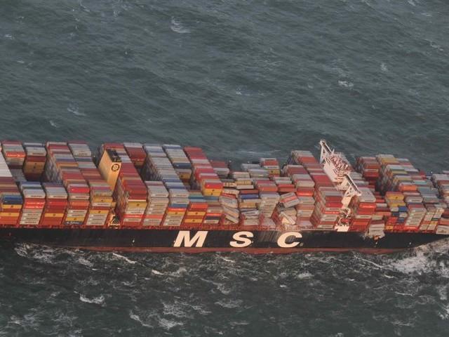 """""""MSC Zoe"""": Frachter verliert mehr als 250 Container in derNordsee"""