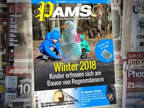 Morgen in PamS: Winter 2018 – Kinder erfreuen sich am Bauen von Regenmännern