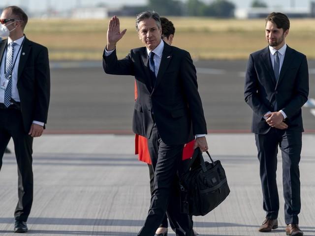 US-Außenminister Blinken zu Antrittsbesuch in Berlin eingetroffen