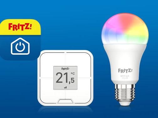 FRITZ!DECT 440 & 500: Vierfach-Taster und LED-Lampe von AVM