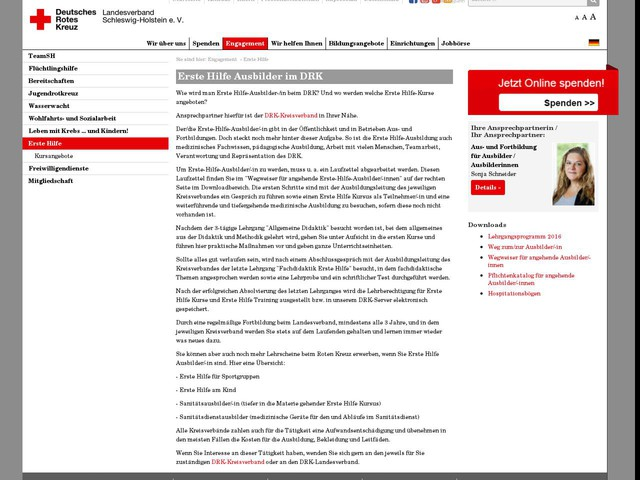 Erste Hilfe : DRK-Landesverband Schleswig-Holstein e. V.