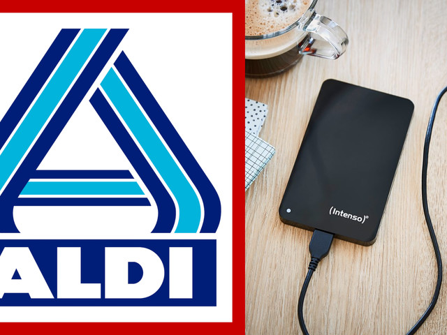 Zwei Terabyte, kompakt, günstig: Externe Festplatte bei Aldi Nord