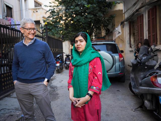 Apple unterstützt Ausbildung von Mädchen – Unterstützung des Malala Funds